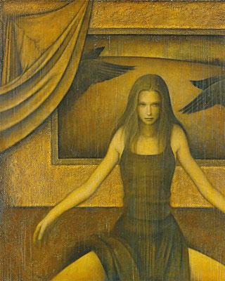 黒い翼 Black wings  Oil on canvas 1621x1303mm 2011