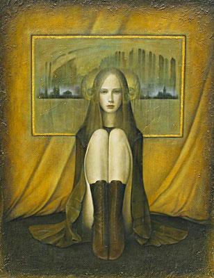 心の窓  Windows to the soul  Oil on canvas 1178x893mm 2009