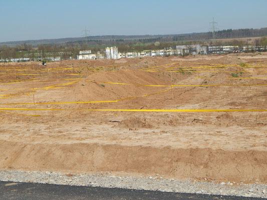 Bereits das Baufeld vom geplanten Layher-Werk ist riesig.