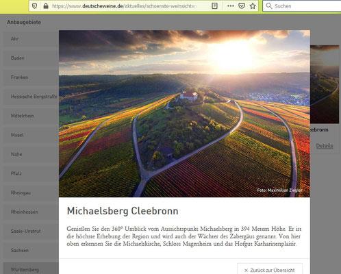 Geschicktes Foto Richtung Stromberg vom Flugzeug aus. Bei dem Wettbewerb geht es aber um die Sicht, die der terrestrisch stehende Betrachter vom Ort aus hat