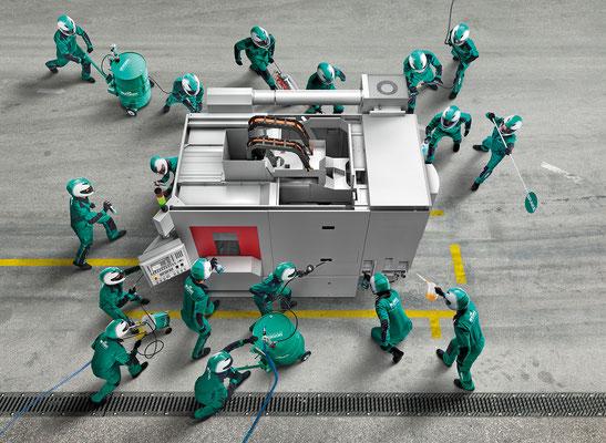 Bucher AG Langenthal, Motorex-Schmiertechnik – Key Visual, Werkzeugmaschine