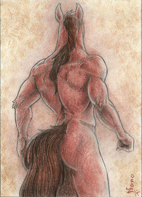 Horse back ACEO - sold