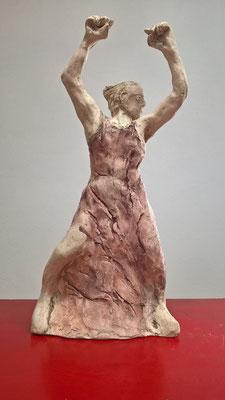 Lebensfreude, 2016, Ton, Eisenoxid, ca. 30 cm