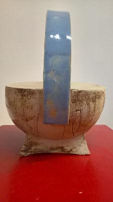 Gießkanne, ca. 19cm hoch, ca. 0,75 l