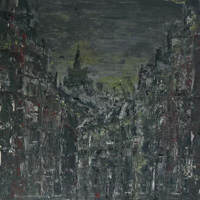 Acryl auf Leinwand, ca. 40x40 cm