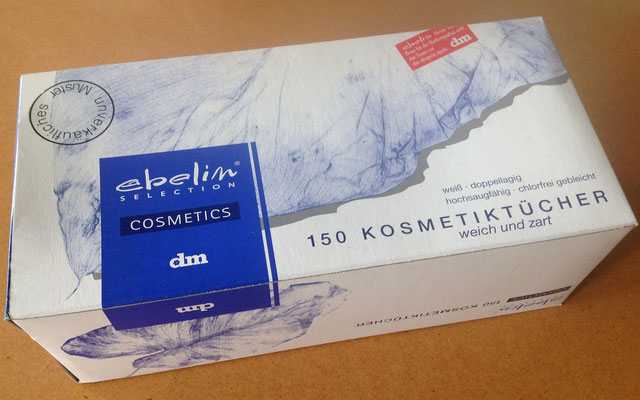 Marken- und Packungs-Design für ebelin Kosmetiktücher Sortiment, dm-drogeriemarkt, Karlsruhe. Susanne Barth für Young & Rubicam Werbeagentur, Frankfurt