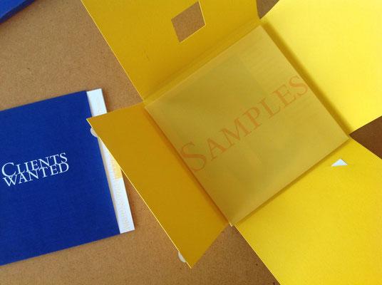 Selbstdarstellung für The Creative Associates, Frankfurt. Corporate Design, Packungsentwicklung, Text. © Susanne Barth