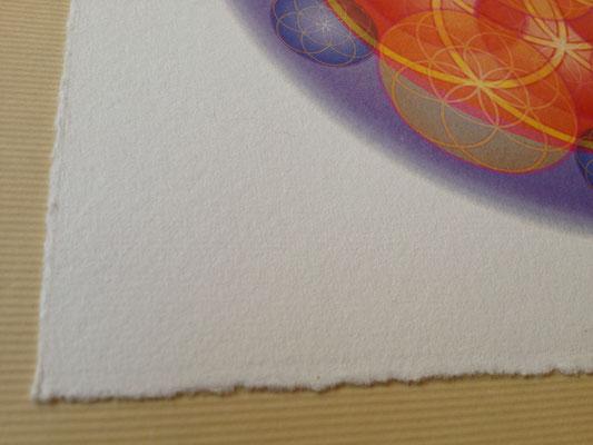 Lebendiges Mandala, gedruckt auf Büttenpapier © Susanne Barth, www.aus-liebe-im-leben.de