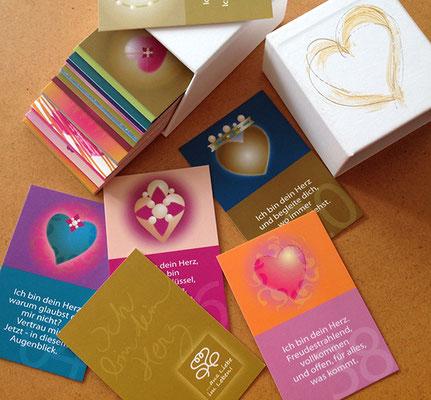 Ich bin dein Herz - Karten-Set mit 49 Karten, Box wird individuell gestaltet und mit Ihrem Namen versehen © Susanne Barth, www.aus-liebe-im-leben.de