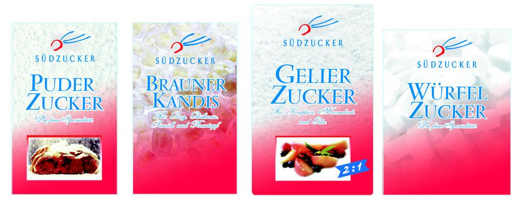 Packungsdesign-Relaunch für Südzucker-Range. Susanne Barth, The Creative Associates für Advent's, Werbe- und Eventagentur Frankfurt