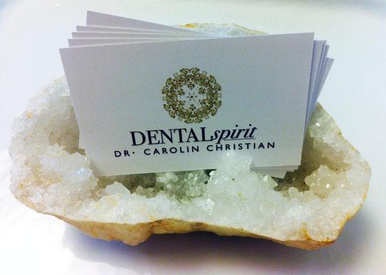Corporate Design für Zahnarztpraxis Dental Spirit, Frankfurt, Visitenkarte  © Susanne Barth, The Creative Associates