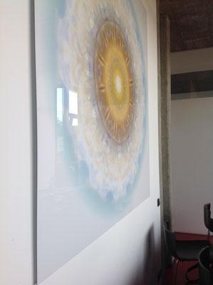 Lebendiger Meister-Kristall  für eine Werbeagentur, Echtfoto hinter Acrylglas, Format 180 x 180 cm © Susanne Barth