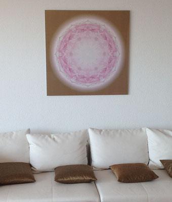 Lebendiges Meister-Kristall  für zuhause, Echtfoto hinter Acrylglas, Format 85 x 85 cm © Susanne Barth, www.aus-liebe-im-leben.de