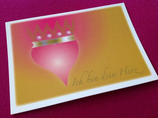"""Illustration für """"Ich Bin Dein Herz""""- Karten-Set. Postkarte © Susanne Barth, www.aus-liebe-im-leben.de"""