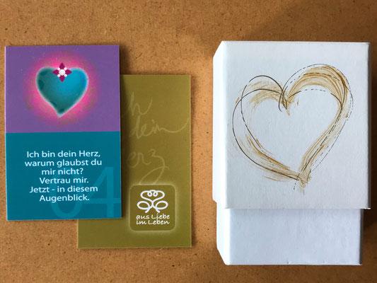 Ich bin dein Herz - Karten-Set , Texte, Illustrationen, Packungsgestaltung, Produktausstattung © Susanne Barth, www.aus-liebe-im-leben.de