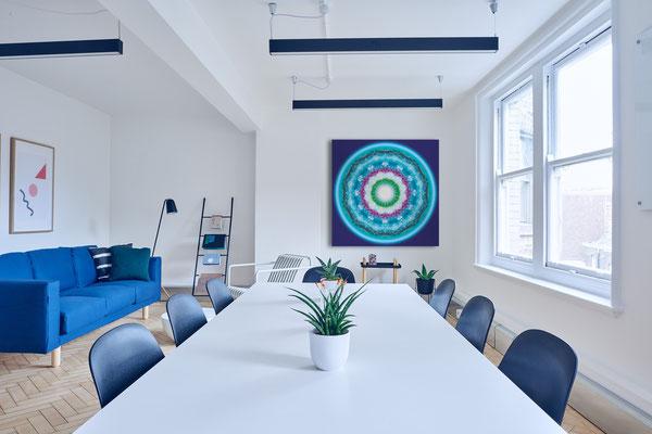 """Foto: Pixabay. Lebendiger Christall """"Bonn"""" in einem Wohnraum oder Office. Freie Arbeit. © Susanne Barth 2020"""