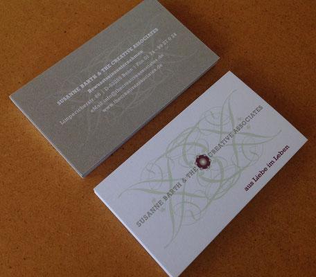 Visitenkarten für Susanne Barth & The Creative ASSOCIATES © Susanne Barth, The Creative Associates