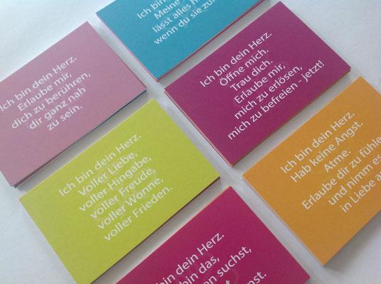 Ich bin dein Herz - Therapie-Karten-Set. Texte, Packungsgestaltung, Produktausstattung © Susanne Barth, www.aus-liebe-im-leben.de