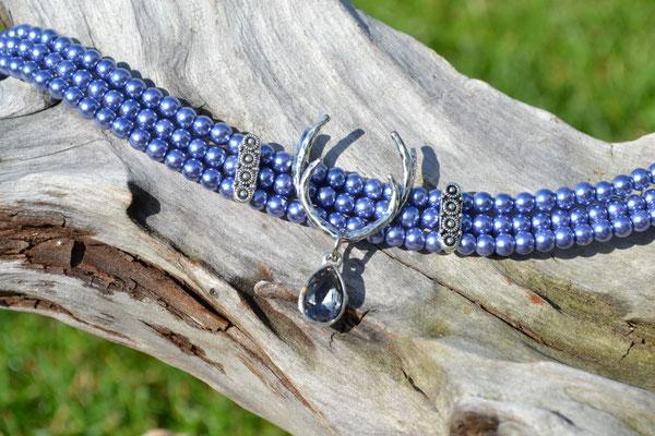 Kropfkette Kropfband Blau