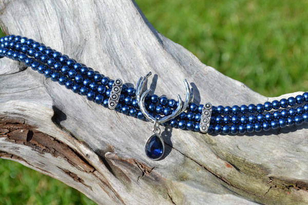 Kropfkette Kropfband dunkelblau