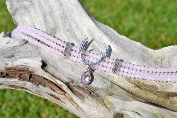 Kropfband rosa Hirschgeweih