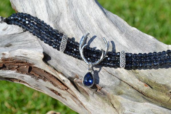 Kropfkette Graublau