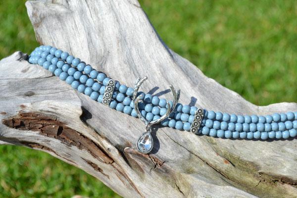 Kropfkette Kropfband hellblau