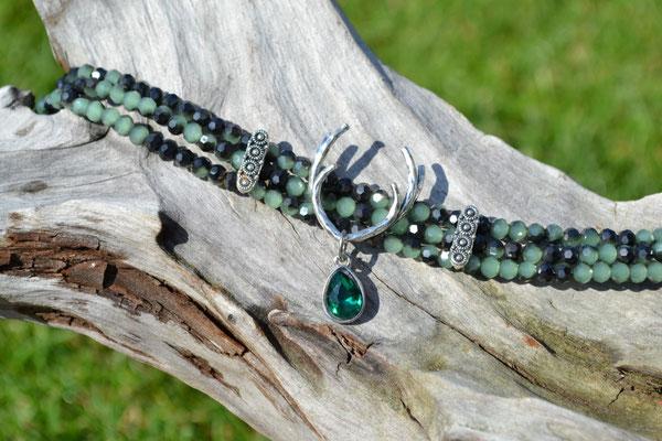 Kropfkette Kropfband dunkelgrün