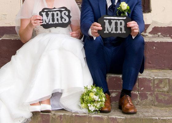 modernes Hochzeitsfoto