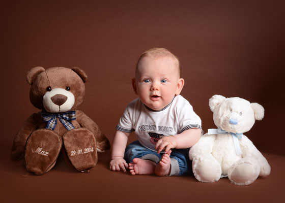 Babyfoto im Fotostudio in Teltow