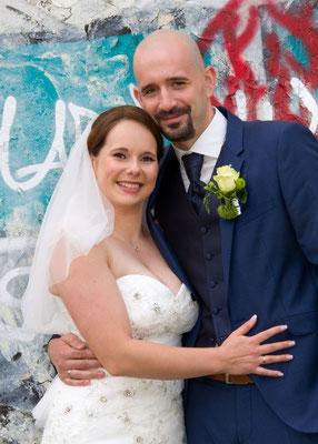 Hochzeitsfoto vom Brautpaar