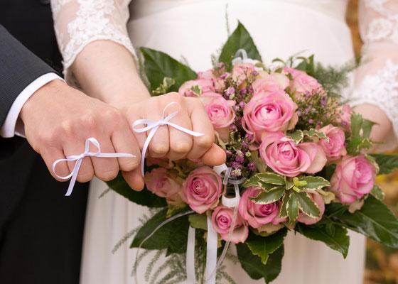 Brautstrauss mit Schleife