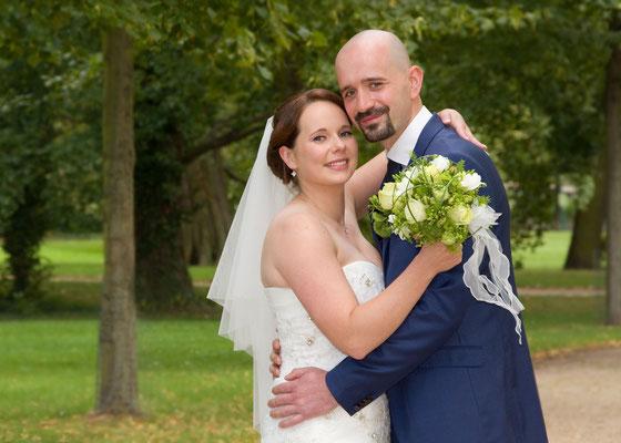 Portraitfoto vom Brautpaar
