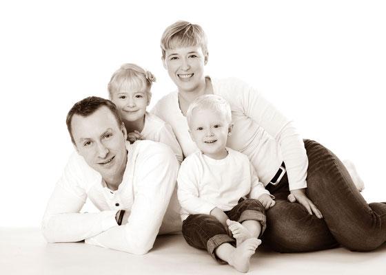 schlichtes Familienfoto in Teltow