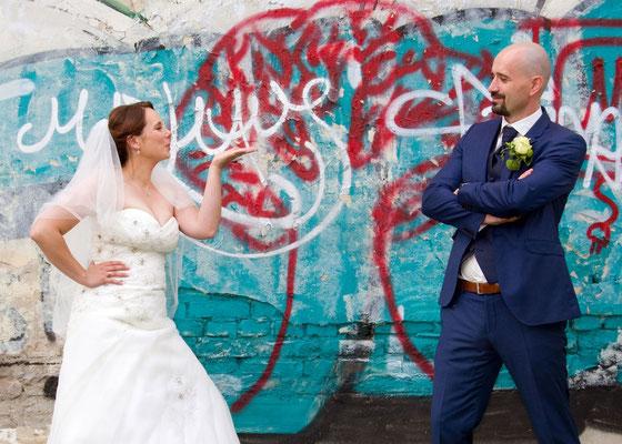 witziges Hochzeitsfoto in Königs Wusterhausen