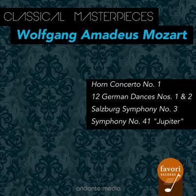 "Classical Masterpieces - Wolfgang Amadeus Mozart: Horn Concerto No. 1 & Symphony No. 41 ""Jupiter"""