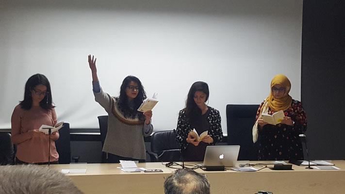 Imane Boulkroun, Roula Sadaki , Rand Alakeil, Nousseyba Mohamed