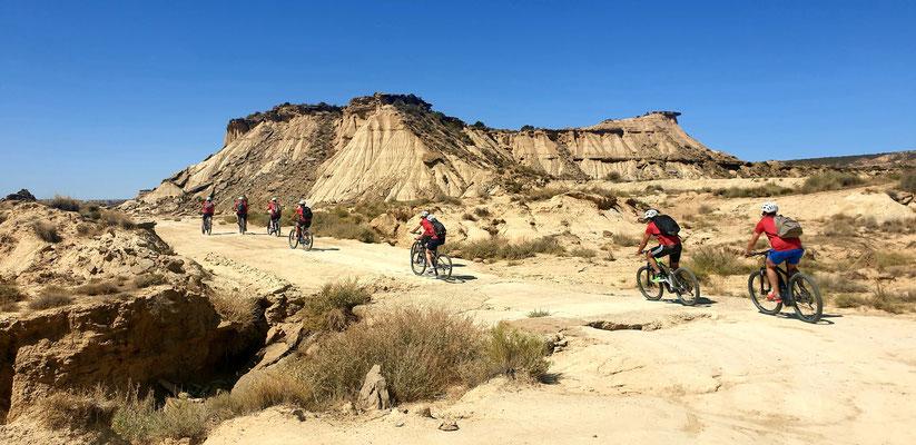 VTT dans le désert