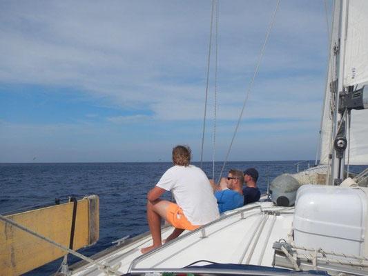 Blauwasser vor und hinter uns