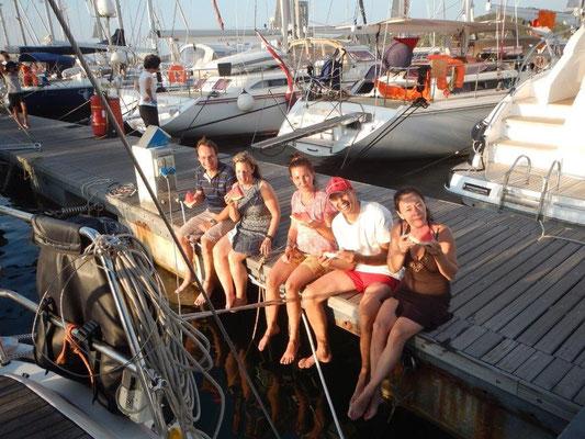 Mitsegeln an Bord einer Segelyacht im Mittelmeer
