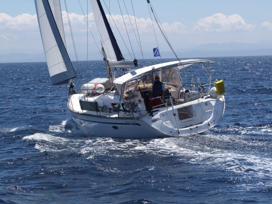 Die Jojo ist eine recht schnelle Segelyacht. Obwohl sie als Cruiser eher auf Komfort ausgelegt ist.