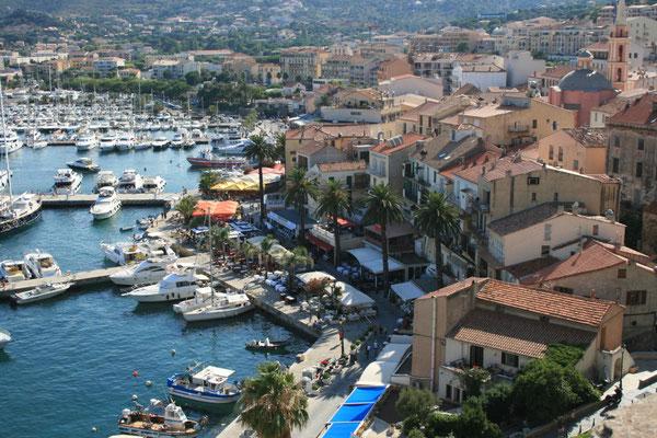 Calvi auf Korsika Segeltörn rund Korsika