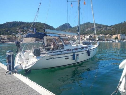 Die Jojo liegt im Port Andratx nach einem Segeltörn ab Ibiza