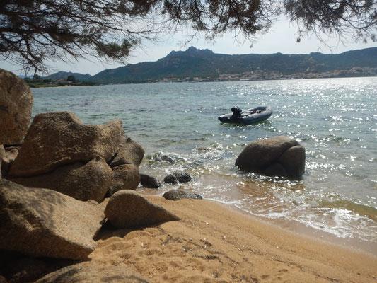 Privater Strand nahe Cannigione