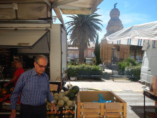 Gemüsemarkt auf italienisch
