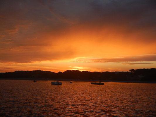 Sonnenuntergang in de Cala Santa Maria