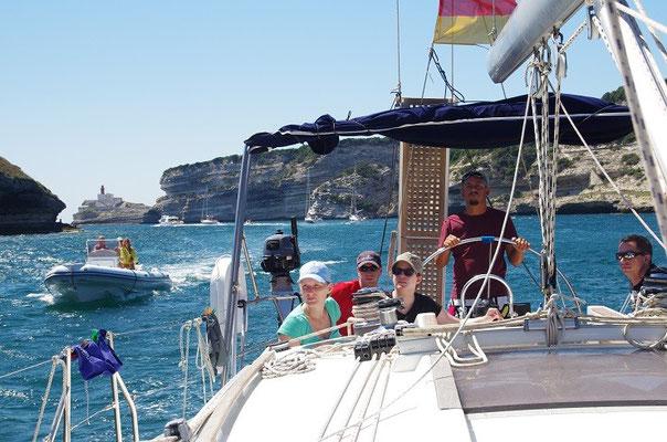 mitsegeln auf dem Segeltoern  von Sardinien nach Korsika