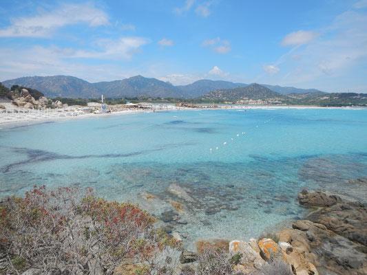 scheiß türkis gibt es auch im Süden von Sardinien