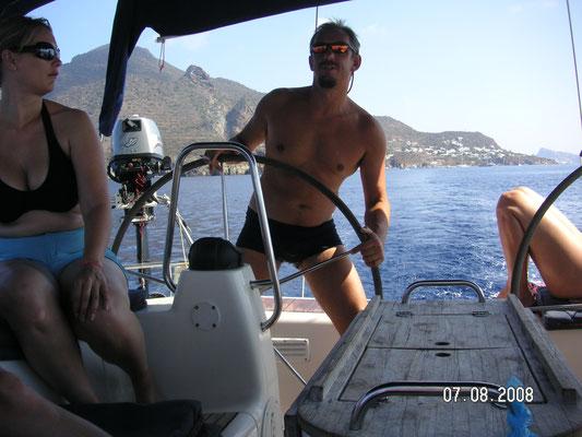 In Badehose segeln - geht doch !