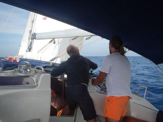 Segeln mit der Segelyacht durch das westliche Mittelmeer